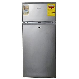 Nasco DF2-15 Double Door Refrigerator - 140 Litre Silver