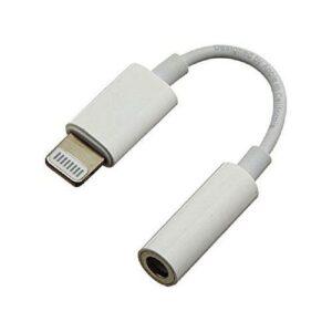 Apple Lightning to 3.5mm Headphone Jack Adapter - White