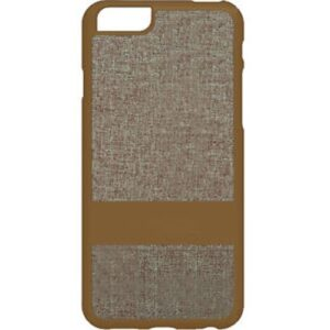 iPhone 6+ Fabric Case - Brown/Gold