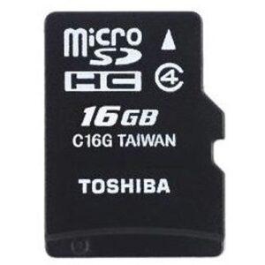 Toshiba Micro SD Card + Adapter - 16GB Black
