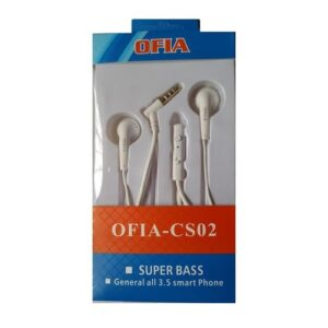 Ofia CS02 Superbass Earphones - White